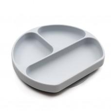 Silikoninė lėkštė su skyreliais Grey