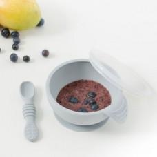 Silikoninis pirmojo maitinimo rinkinys Grey