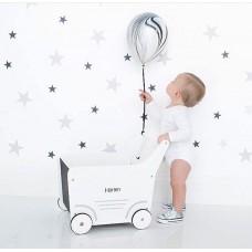 Medinis vežimėlis WHITE