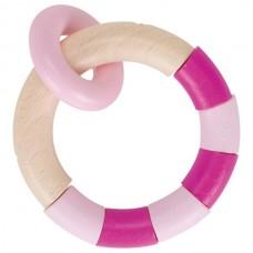 Medinis barškutis Pink