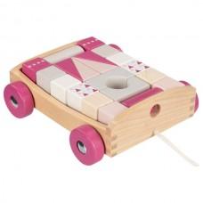 Goki medinis vežimėlis su kaladėlėmis Lifestyle Berry