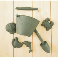 Silikoninis smėlio žaislų rinkinys  Scrunch Grey