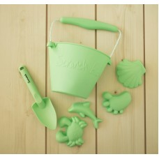 Silikoninis smėlio žaislų rinkinys Scrunch Green