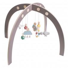 Lavinamasis stovelis kūdidiui su žaisliukais - warm grey