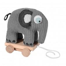 Nertas traukiamas dramblys FANTO grey