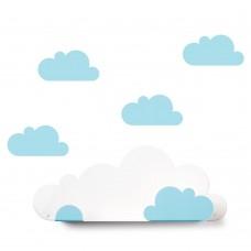 Lentyna Cloud ir 4 mėlyni debesėliai lipdukai