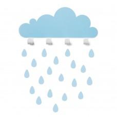 Kabliukai Cloud - mėlynas